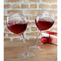 Tipsy Wine Glasses.