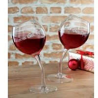 Tipsy Wine Glasses.