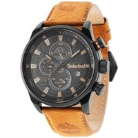 Timberland Henniker II Brown Leather Strap Watch with Black Dial