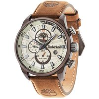 Timberland Henniker II Brown Leather Strap Watch with Beige Dial