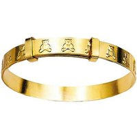 Kids 9ct Rolled Gold Teddy Baby Bangle