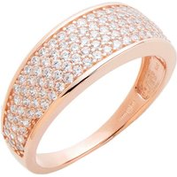 9ct Gold CZ Pave Set Tapered Ring