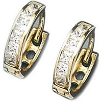 9ct Gold CZ Huggy Earrings