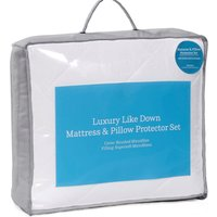 Feels like Down Mattress and Pillow Protector Set.