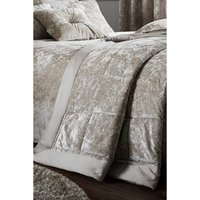 Catherine Lansfield Crushed Velvet Bedspread.
