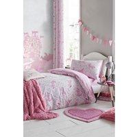 Catherine Lansfield Folk Unicorn Pink Reversible Duvet Set.