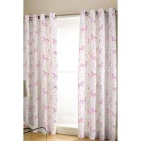 Folk Unicorn Lined Eyelet Curtains