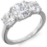 Sterling Silver 3 Stone White CZ Ring