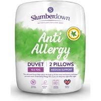 Slumberdown Anti Allergy 10.5 Tog Duvet and 2 Pillows.