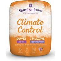 Slumberdown Climate Control 10.5 Tog Duvet and 2 Pillows