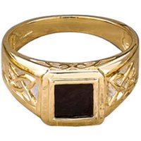 9ct Yellow Gold Celtic Style Onyx Ring