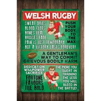 Welsh Rugby Sign.