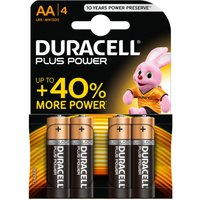 Duracell 4 Pack AA Power Plus Batteries.