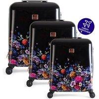 Oasis Floral 3 Piece Suitcase Set