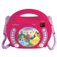 Lexibook Disney Princess CD Player with Microphones