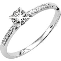 9ct White Gold Cluster 0.20ct Diamond Ring