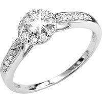 9ct White Gold ½ct Diamond Cluster Ring