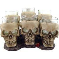 Set of 6 Shooter Skull Shot Glasses.