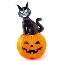 Premier Halloween Black Cat and Pumpkin Inflatable