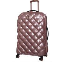 IT Luggage St. Tropez Deux 8 Wheel Rose Gold Expander Suitcase