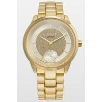 Lipsy Gold Bracelet Watch with Gold Dial.