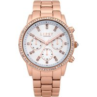 Lipsy Ladies Rose Gold Bracelet Watch with White Dial.