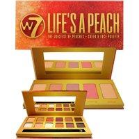 W7 Lifes a Peach Eye Shadowand#44 Cheek and Face Palette