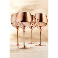 Pack of 4 Rose Gold Gin Glasses.