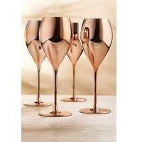 Pack of 4 Rose Gold Wine Glasses.