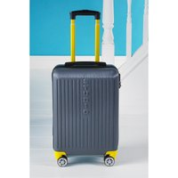 Madrid Charcoal Self-Weighing Suitcase