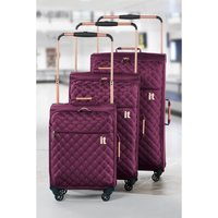 Worlds Lightest Raspberry Quilted Suitcase