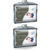 9 Tog Luxury Cotton Junior Cot Bed Duvet and Pillow Bundle