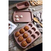 3-Piece Pink Bakeware Set