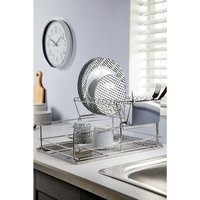 2-Tier Stainless Steel Dish Drainer