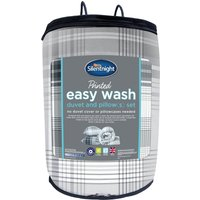 Silentnight Easy Wash 10.5 Tog Printed Duvet and Pillow Set