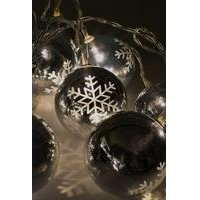 Set of 10 LED Snowflake Bauble Lights