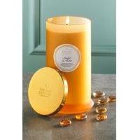 Shearer Pillar Jar Candle - Amber and Rose.