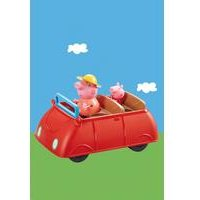 Peppa Pig Big Red Car With 2 Figurines