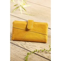 Crumble Collection RFID Large Leather Tab Purse Boxed