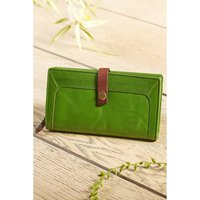 Orchard Collection RFID Large Crunch Leather Purse