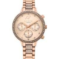 Lipsy Rose Gold Bracelet Watch with Rose Gold Sunray Dial.