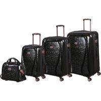It Girl Sparkle Black Suitcase