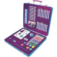 Disney Frozen II Art Tin Case with 61 Piece Creative Accessories Kit.