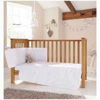 Clair de Lune Broderie Anglaise 3 Piece Cot/Cot Bed Bedding Set