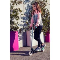 Funbee Kids Two Wheel Inline Foldable Scooter with Flashing LED Wheels.