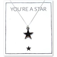 Silver Youre A Star Charm Necklace Card.