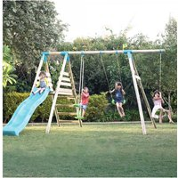 TP Toys Galapagos Wooden Swing Set and Slide