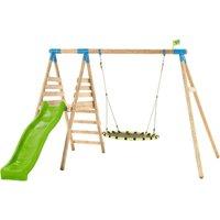 TP Toys Fiordland Wooden Swing Set and Slide