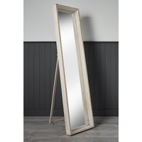 Large Full Length Free Standing Wooden Accent Mirror