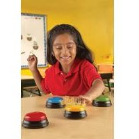 Learning Resources Set of 4 Lights and Sounds Buzzers